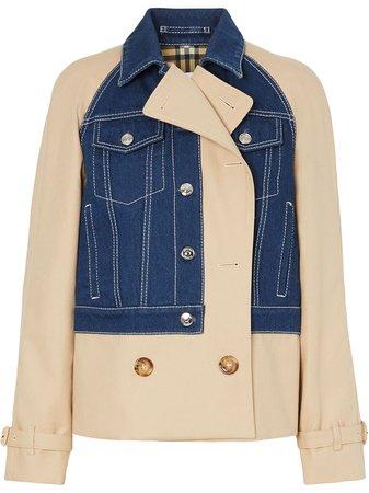 Burberry Panelled Gabardine Jacket - Farfetch