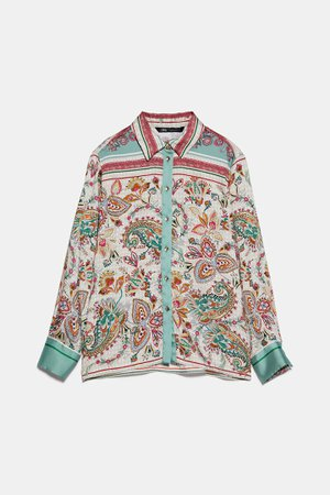 PRINTED BLOUSE | ZARA United States