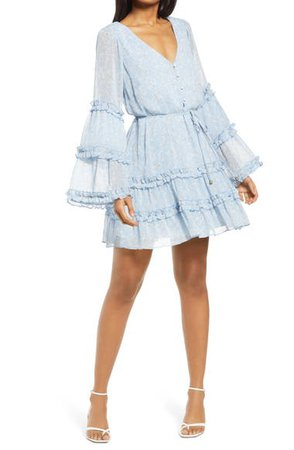 Row A Long Sleeve Ruffle Dress | Nordstrom