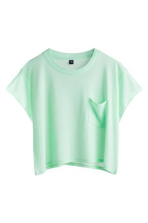Mint Green Crop T-Shirt Top