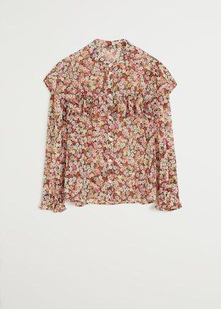 Floral print blouse - Women   Mango USA red