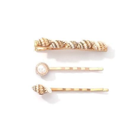 Buy 3Pcs/set Women's Hair Clips Seashell Pattern Stylish Hair Accessories & Hair Accessories - at Jolly Chic