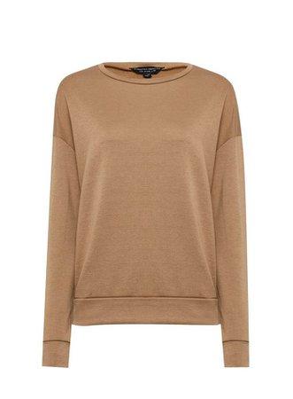 Camel Oversized Sweatshirt | Dorothy Perkins