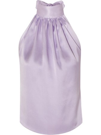 Harmur silk halter top lilac