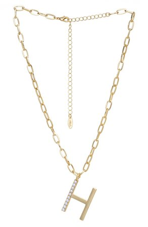 Imitation Pearl Initial Pendant Necklace | Nordstrom