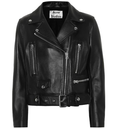 Acne Studios - Motorcycle leather jacket | Mytheresa