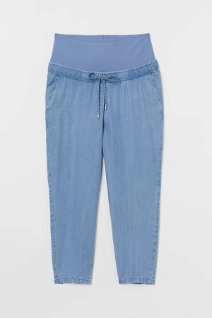 MAMA Pull-on Lyocell Pants - Blue