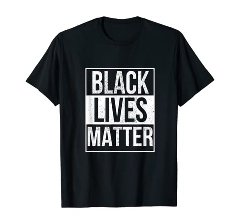 Amazon.com: BLM T Shirt - Distressed Black Lives Matter T-Shirt: Clothing