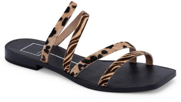 Izabel Genuine Calf Hair Slide Sandal