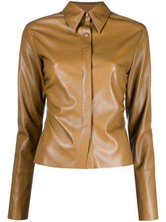 Nanushka Shado faux-leather shirt - FARFETCH