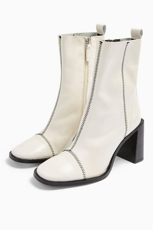 HOMERUN White Leather Boots   Topshop