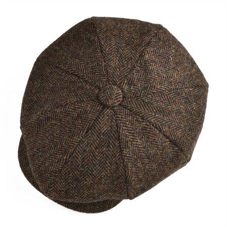BOTVELA шерсть твид Газетчик Cap мужчины женщины классический ретро шляпа с мягкой подкладкой крышка водителя 001
