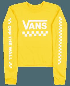 vans yellow long sleeve