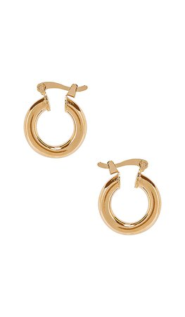 The M Jewelers NY Small Ravello Hoops in Gold   REVOLVE
