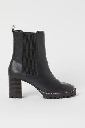 Block-heeled ankle boots - Black - Ladies | H&M
