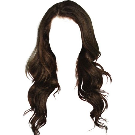 wavy dark brown hair