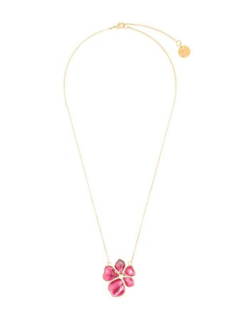Shop red Mulberry Flower Garden leaf necklace with Express Delivery - Farfetch