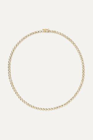 Jennifer Meyer | 18-karat gold diamond necklace | NET-A-PORTER.COM