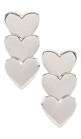 LPA Love Games Earring in Silver | REVOLVE