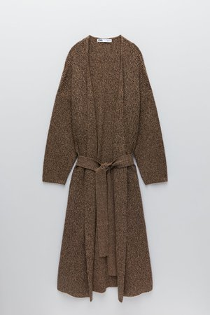 LONG KNIT COAT | ZARA United States