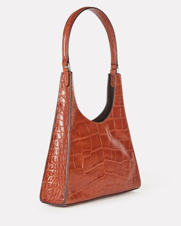 STAUD Rey Leather Shoulder Bag | INTERMIX®