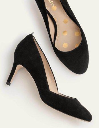 Edie Mid Heels - Black   Boden US