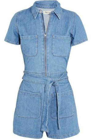 Madewell - Cotton And Linen-blend Playsuit - Blue