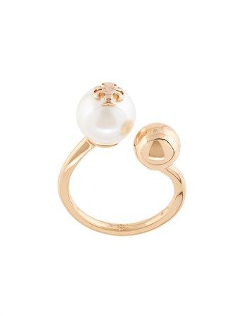 Tory Burch Pearl Asymmetric Ring Ss20   Farfetch.com