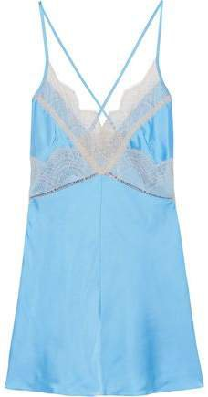 Lace-trimmed Satin Camisole