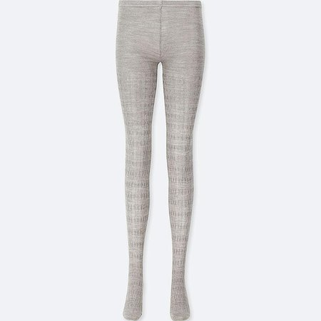 WOMEN HEATTECH KNITTED CABLE TIGHTS | UNIQLO US
