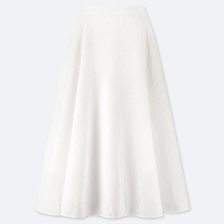 WOMEN SEERSUCKER CIRCLE SKIRT | UNIQLO