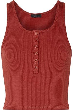 The Range | Alloy cropped ribbed stretch-knit tank | NET-A-PORTER.COM