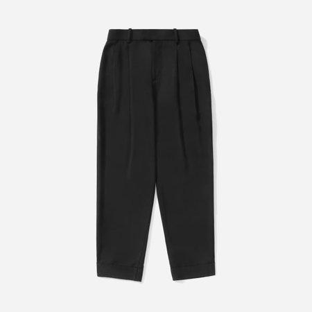 Women's Put-Together Pleat Pant   Everlane black