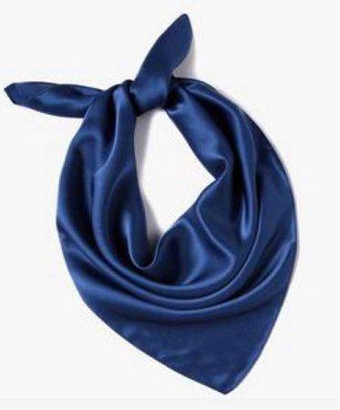 Blue Satin Bandana