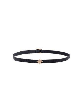 Shay 18Kt Rose Gold Mini Starburst Diamond Choker Necklace