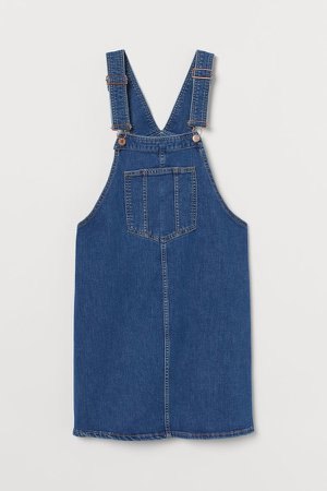 MAMA Denim Overall Dress - Blue