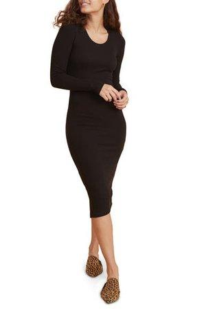 Marine Layer Lexi Long Sleeve Midi Body-Con Dress | Nordstrom