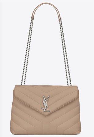beige ysl purse