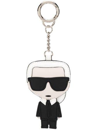 Karl Lagerfeld Karl embroidered keychain white & black 201W3805999 - Farfetch