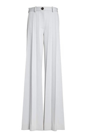 Peter Do Mid-Rise Wide-Leg Cady Pants