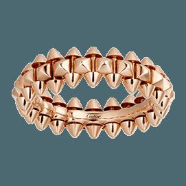 CRB4229900 - Clash de Cartier ring Medium Model - Pink gold - Cartier