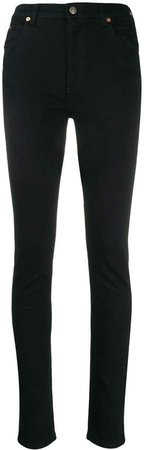 logo patch skinny jeans
