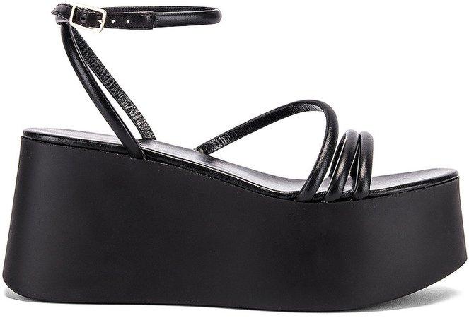 Strappy Platform Sandals in Black | FWRD