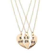 three bffs necklace - Google Search