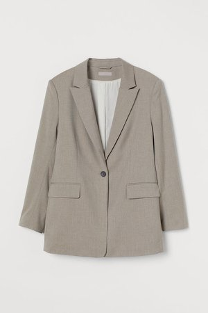 Single-breasted Blazer - Brown