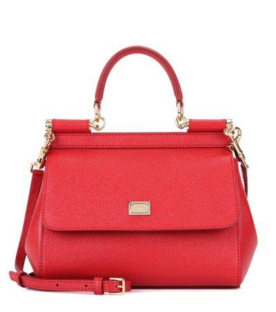 Miss Sicily Small Leather Shoulder Bag - Dolce & Gabbana | mytheresa