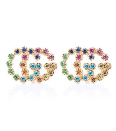 Running G 18Kt Yellow Gold Earrings - Gucci   mytheresa.com