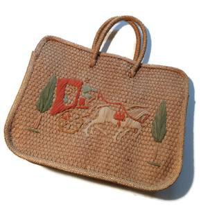 Horse and Buggy Novelty Themed Raffia Handbag circa 1960s – Dorothea's Closet Vintage