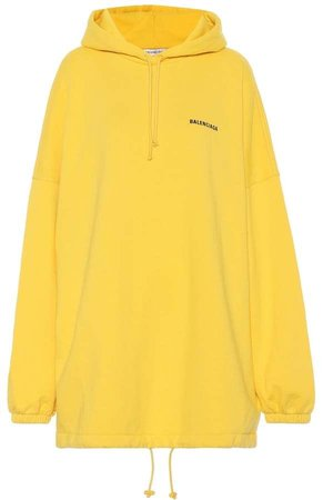 Balenciaga Oversized cotton-blend sweatshirt