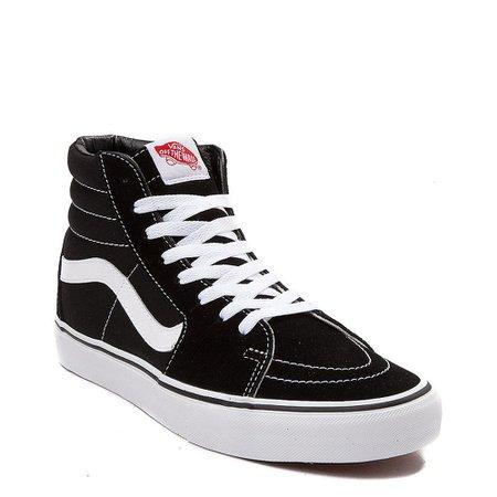 Vans Sk8 Hi Skate Shoe - Black / White   Journeys